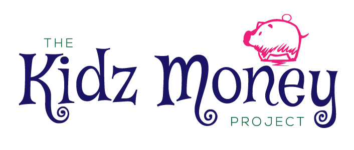 The Kidz Money Project with a little pink pig above the word money